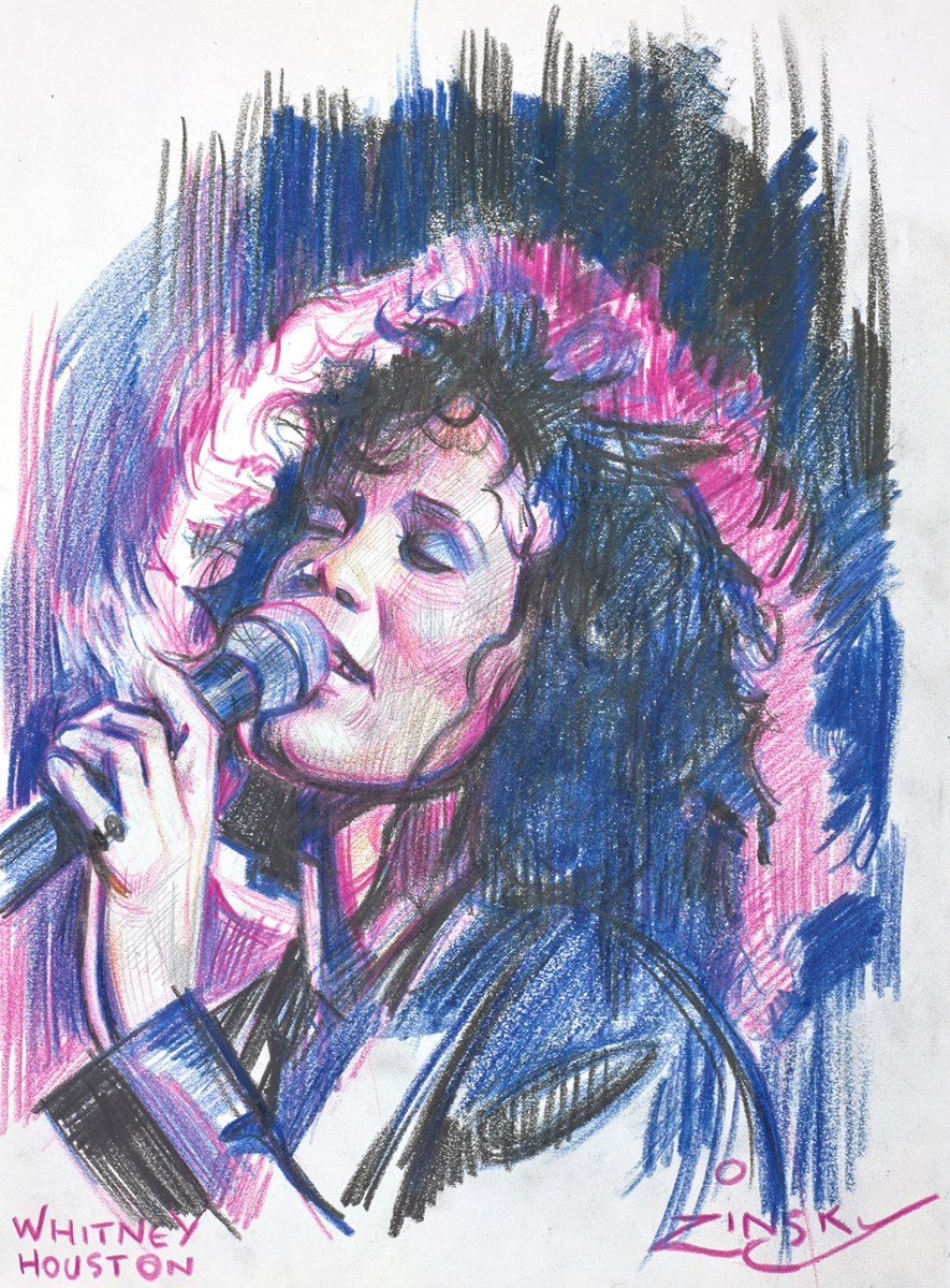 Whitney Houston by zinsky -  sized 8x11 inches. Available from Whitewall Galleries